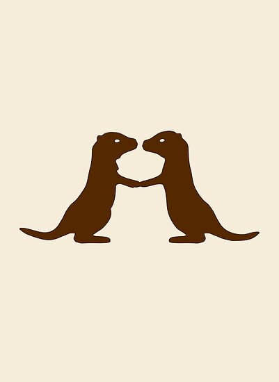Otters Holding Hands by jezkemp