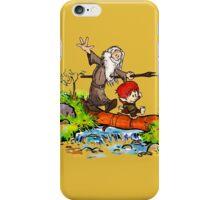 Gandalf and Bilbo calvin hobes iPhone Case/Skin