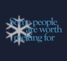 Frozen - Some people are worth melting for Kids Clothes