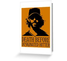"SF Giants ""Designated Hitter"" Greeting Card"