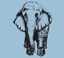 Elephant T-shirt by Aleksandra Kurczewska