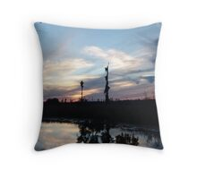 Bird Clouds at Sunset Throw Pillow