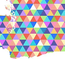 Washington State Colorful Geometric Triangles by CorrieJacobs
