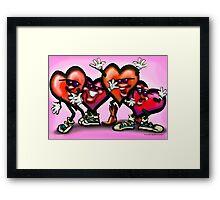 Dancin Hearts Framed Print