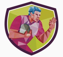 Rugby Player Fend Off Low Polygon by patrimonio