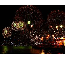 Shower of Color - Perth Skyworks 2009 Photographic Print