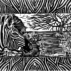 """""""Glorious Africa"""" Linocut Print by Catherine  Howell"""