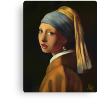 Pearl Earring my way Canvas Print