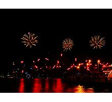 Reds and Golds  - Perth Skyworks 2009 Photographic Print