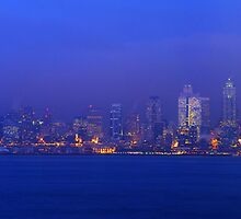 The View From Alki Point. Seattle, Washington.  by Todd Rollins