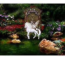 Unicorn White Beauty And Heart Angel Photographic Print