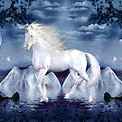 Unicorn White Beauty Magical Wonderland by mickeyelvis128