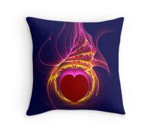 Heart Afire Throw Pillow
