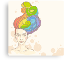 Rainbow in My Head Canvas Print