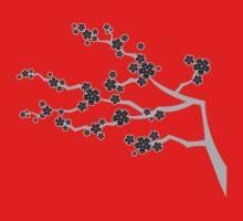 Black Sakura Cherry Blossoms Flowers Kids Clothes