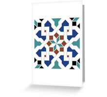 Oriental design - geometric Pattern Pt.3 Greeting Card