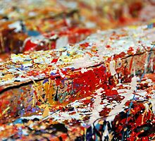 Abstract white red by artabstract
