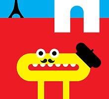 Mister O, the Fancy Moustache and the Beret do Paris by Christa de Groot