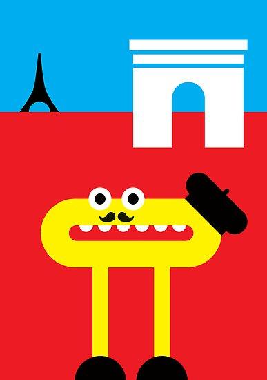 Mister O, the Fancy Moustache and the Beret do Paris by Christa de Groot