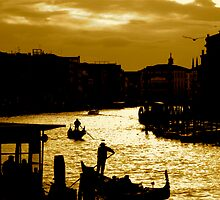 CANAL LIFE IN VENICE by Scott  d'Almeida