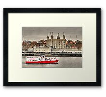The Little Red Boat and The Tower of London Framed Print