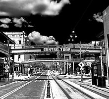Ybor City 8th Avenue HDR B/W  by MKWhite