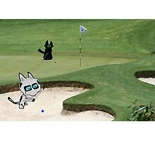 Cats Playing Golf Photographic Print