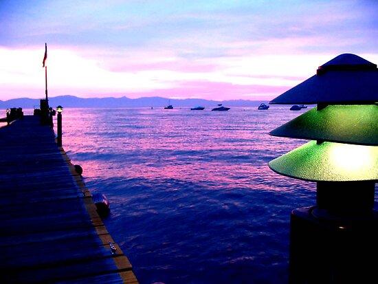 Lake Tahoe Pier by Rosalee Lustig