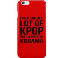 A LOT OF KPOP - RED iPhone Case/Skin