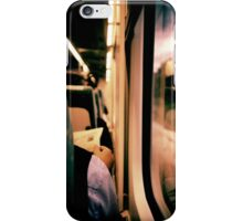Man on train - Lomo LCA xpro lomographic analog 35mm film iPhone Case/Skin