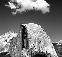 UNDER THE CLOUD-HALF DOME, YOSEMITE by Duane Salstrand