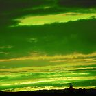 Green Light Sky by Rosemariesw