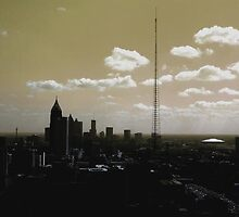 Atlanta Skyline Fog by pcproductions