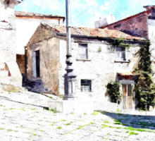 Agropoli: square building and lamp post Sticker