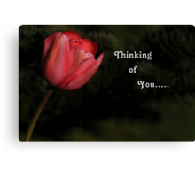 THINKING OF YOU.....~ Canvas Print