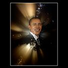 """Portrait of a Man"" Barack Obama Poster and Prints by Val  Brackenridge"