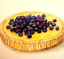 Delicious ..Lemon Curd and Blueberry Tart by © Janis Zroback