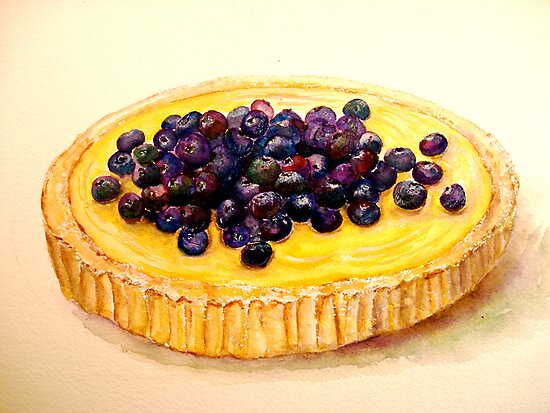 Delicious ..Lemon Curd and Blueberry Tart by  Janis Zroback