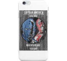 Captain America: Civil War Poster iPhone Case/Skin