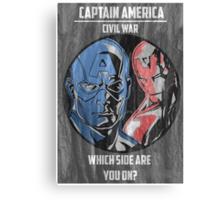 Captain America: Civil War Poster Canvas Print