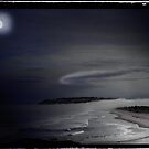 St Kilda Moon - Dunedin NZ by Ron Moss