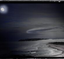 St Kilda Moon - Dunedin NZ by Ron C. Moss