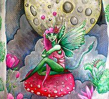magic mushrooms & fairy forest  by melaniedann