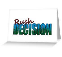 Rush Decision Blue Sky Grass Greeting Card
