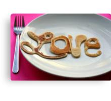 Pancake Love. Canvas Print