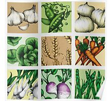 Farmers Medley - Vegetables Poster