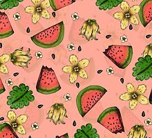 Summer Fruit Pattern Design by janelledimmett