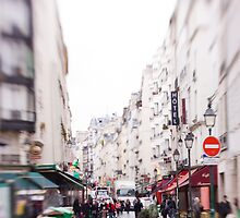 Paris City Street by Tobin Rogers