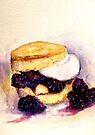 Delicious ..Scone with Berries and Cream by © Janis Zroback