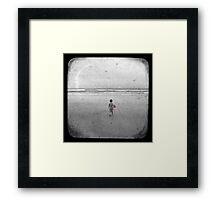 The Little Red Sailboat - TTV Framed Print